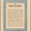 The Prospectus for The New Yorker