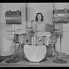Viola Smith playing the drums