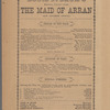 Program for the stage production The Maid of Arran