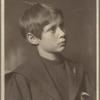 Portrait of Nicholas Kelley as child, looking askance