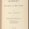 Harriet, the Moses of her people, [Title page]