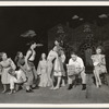 Mary Martin (seated, extreme right)  in the stage production One Touch of Venus