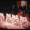 Lisa Brown and chorus with blow-up dolls in the stage production The Best Little Whorehouse in Texas