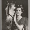 Gloria Grafton [as Mickey Considine] with horse in the stage production Jumbo