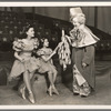 Gloria Grafton, Sybil Elaine and A. Robins [clown] in the stage production Jumbo