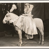 Unidentified show girl on horse in the stage production Jumbo