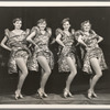 Unidentified showgirls in the stage production Jumbo