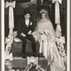 Donald Novis and Gloria Grafton [on wedding float] in the stage production Jumbo