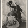 Jimmy Durante and Rosie the elephant in the stage production Jumbo