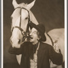Jimmy Durante [holding cigar and horse) in the stage production Jumbo