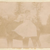 Loie Fuller and Gabrielle Bloch on horse