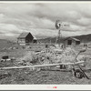 A submarginal farm purchased by Resettlement Administration and to be returned to grazing land. Oneida County, Idaho.