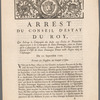Arrest du Conseil d'estat du roy ...