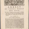Arrest du Conseil d'estat du roy ...