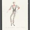 Dancin': Costume sketch for Mr. Bojangles - Spirit