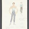 Dancin': Costume sketch for Dream Barre - Boys, SK #21