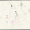 Dancin': Untitled costume sketch, likely drafts for Dancin Man