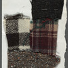 Chaplin: Fabric swatch for Chaplin costume and photocopied reference image