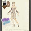 Dancin': Costume sketch for Sing Sing (Christine Colby), SK #57-B