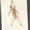Dancin': Untitled costume sketch, likely for Sing Sing