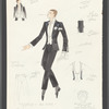 Dancin': Costume sketch for Tuxedo - All Men, SK 91