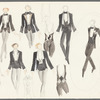Dancin': Untitled draft costume sketches for tuxedos