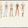 Dancin': Untitled draft costume sketches, likely for Crunchy Granola Suite