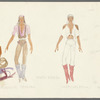 Dancin': Costume sketches for Crunchy Granola Improvisation (Karen Burke), 3