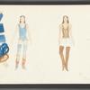 Dancin': Costume sketches for female dancers, 13