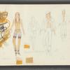 Dancin': Costume sketches for Crunchy (Sandahl Bergman), 1-2