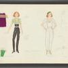 Dancin': Costume sketches for Crunchy (Gail Benedict), 1
