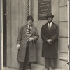 George Schuyler with Mr. Massey outside the offices of the Co-operative Wholesale Society of Great Britain, in Manchester, England