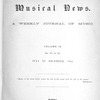 Musical news, Vol. 9, Index, July to December, 1895