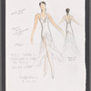 """Dancin' With Gershwin: Costume sketch for Act I, Dance 3 """"Our Love Is Here to Stay"""" (Dalyn Chew)"""