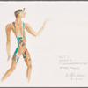 """Dancin' With Gershwin: Costume sketch and fabric swatches for Act I, Dance 10 """"It Ain't Necessarily So"""" (Hernan Piquin)"""