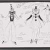 """Dancin' With Gershwin: Photocopied costume sketch for """"O Lady Be Good"""" and related draft sketch"""