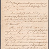 William Cullen to Mrs. Porter, autograph letter signed