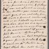 Susannah Gunning to Jane Porter, autograph letter signed