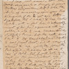 Jane Porter to Mary Robinson, autograph letter (draft)