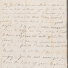 Katherine Caulfield to Jane Porter, autograph letter signed