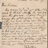 T. Waller to Jane Porter, autograph letter signed