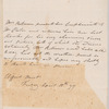 Mary Robinson to Robert Ker Porter, autograph letter third person