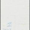 Handwritten set list for New York tour