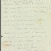 John Bowring to Miss Porter, autograph letter signed