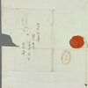 John Adamson to Miss Porter, autograph letter signed