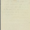 G. W. Chad to Miss Porter, autograph letter third person