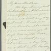 Mary Frances Howley to Miss Porter, autograph letter signed