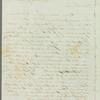 John Briggs to Jane Porter, autograph letter signed