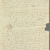 Alexander Keith to Jane Porter, autograph letter signed