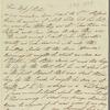 Caroline Vernon to Jane Porter, autograph letter signed